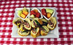 Roast Beef Deli Hoagie Appetizer Stock Photos