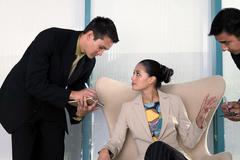 Businesswoman dictating Stock Photos
