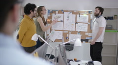 Stock Video Footage of 4K Casual creative business team brainstorming for ideas in office meeting
