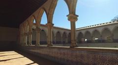Templar interior christ convent Tomar - stock footage