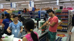 Coop Mart in Vung Tau city - stock footage