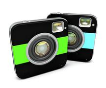 Instant camera. Isolated. Contains clipping path Stock Illustration