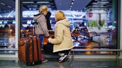 Family before traveling - awaiting holiday Stock Footage