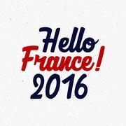 France europe 2016 Football label, Soccer overlay, tournament logo. Championship - stock illustration