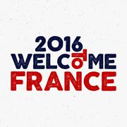 France europe 2016 Football label, Soccer overlay, tournament logo. Championship Stock Illustration