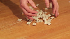 Keyboard keys on the table Stock Footage