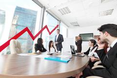 Business people and income growth - stock photo