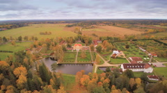 The back of the Palmse manor in Estonia Stock Footage