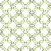 Vector seamless background. White wallpaper with green pattern - stock illustration