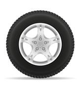 Car wheel tire from the disk illustration Stock Illustration