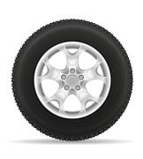Stock Illustration of car wheel tire from the disk illustration