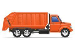 Cargo truck remove garbage illustration Stock Illustration