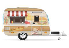 Fast food trailer illustration Stock Illustration