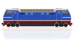 railway locomotive train illustration - stock illustration