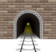 Railway tunnel illustration Stock Illustration