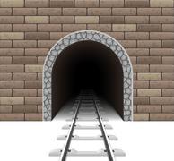 railway tunnel illustration - stock illustration