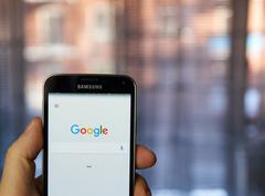 Google mobile app. Stock Photos