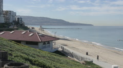 Palos Verdes from Redondo Beach Stock Footage
