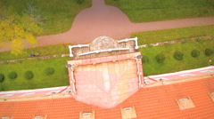 The pink roof of the Sagadi manor Stock Footage