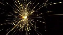 Sparkler fireworks on a dark background - stock footage