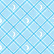 Seamless wallpaper. Blue checkered background. Tablecloth Stock Illustration