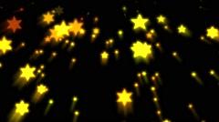 Christmas Holiday Raining Stars Merry Xmas Stock Footage