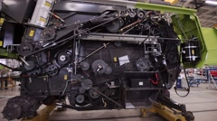 Parts of the Harvester. Block of Transmission Gears - stock footage