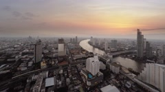 Abstract Cinemagraph of Urban Road and River Traffic at Sunset. Video 4k Stock Footage