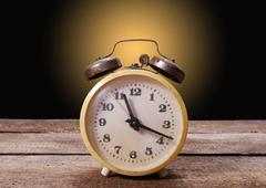 alarm clock closeup - stock photo