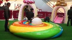 Children's playground, children play Stock Footage