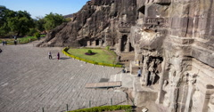 Ellora cave timelapse Stock Footage