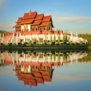 Royal Flora Ratchaphruek Park, Chiang Mai - stock photo