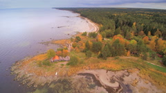 The aerial view of the Altja lake Stock Footage