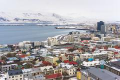 View of Reykjavik Iceland Stock Photos