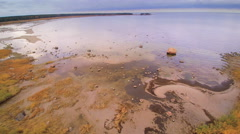 Closer look of the rocky shore in Altja Stock Footage