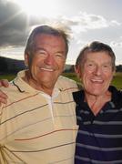 Golfing buddies Stock Photos
