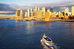Ferry approaching new york Stock Photos