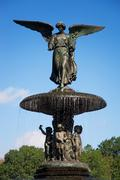 Bethesda fountain central park new york Stock Photos