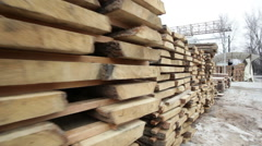 Wood stock timber board video Stock Footage