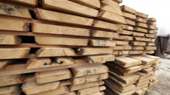 Timber warehouse wood video work Stock Footage