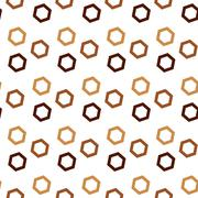 Seamless Colorful Abstract Pattern from Repetitive Concentric Hexagons - stock illustration