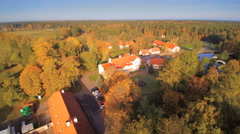 Aerial view of the trees surrounding the area Stock Footage