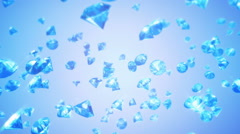 Diamonds Falling Background (Loop) - stock footage