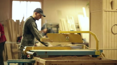 Joinery wood production video workshop Stock Footage