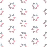 Seamless Colorful Abstract Pattern from Repetitive Concentric Triangles - stock illustration