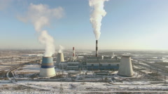 Aerial View of Heat-Electric Station Stock Footage
