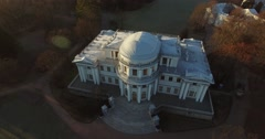 Aerial view Elagin palace Stock Footage