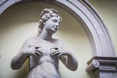 Feminine statue of Abundance - stock photo