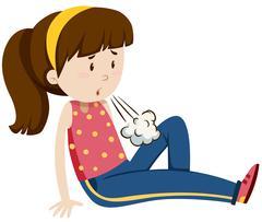 Teenage girl feeling tired - stock illustration