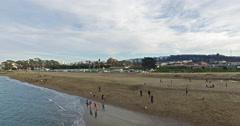 Beautiful 4k view on San Francisco beach, USA, California. Stock Footage